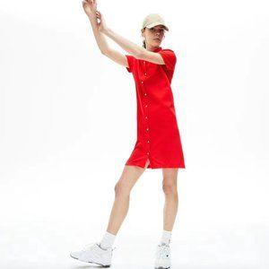 Original Lacoste Red Collar Dress